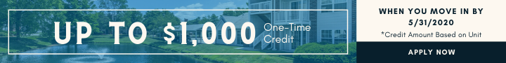 Up to $1000 rent credit