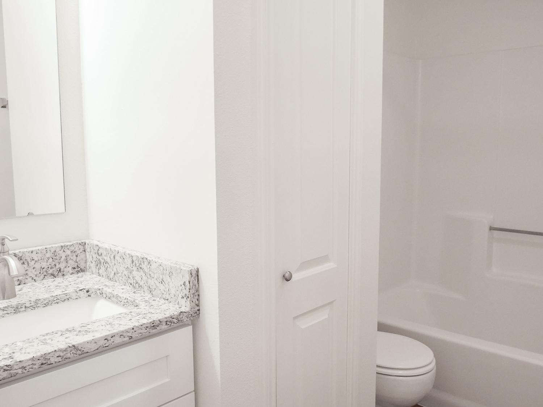 bathroom with closet